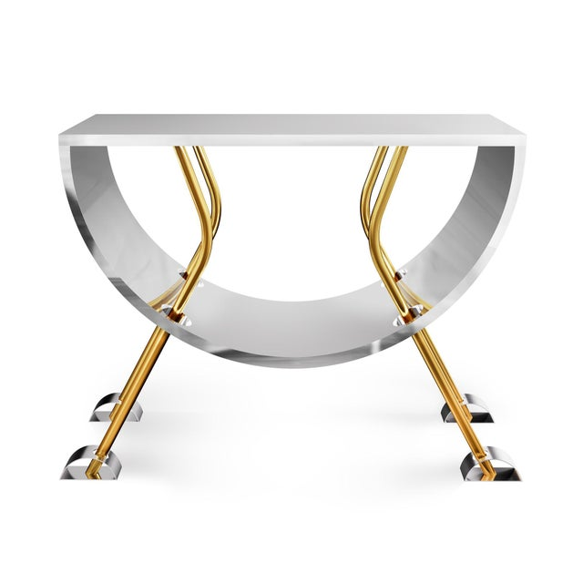 The Double D Console is made from brass and stainless Steel. Its name comes from the big D top and the little d feet. The...