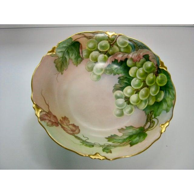 Farmhouse Antique Bavarian Lush Grape Bowl For Sale - Image 3 of 6