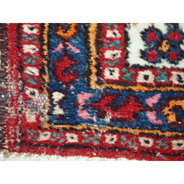 1960s Hand Made Vintage Persian Hamadan Runner - 2′7″ × 6′9″ - Image 5 of 10