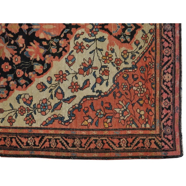 Early-20th century, antique Persian Sarouk Farahan carpet. Hand-woven, professionally washed.