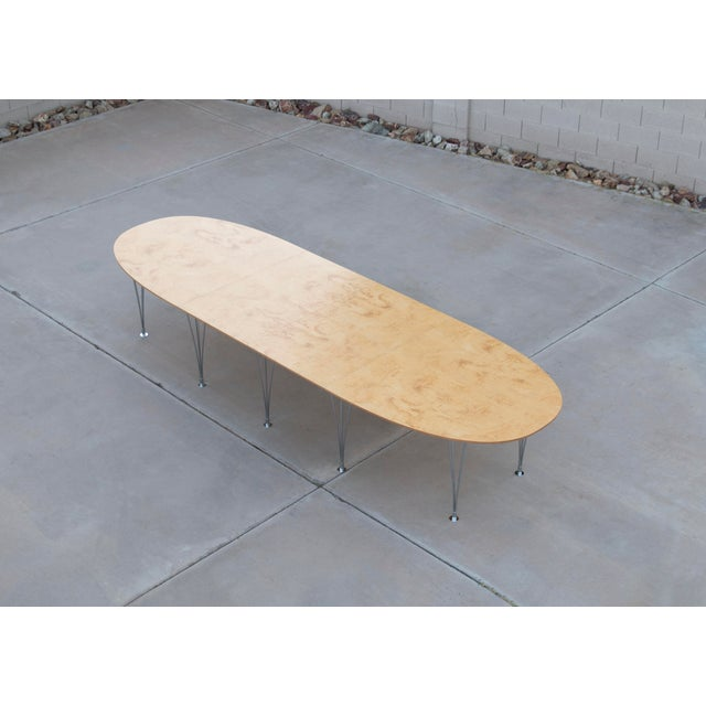 Danish Modern Danish Modern Bruno Mathsson Conference or Dining Table For Sale - Image 3 of 12