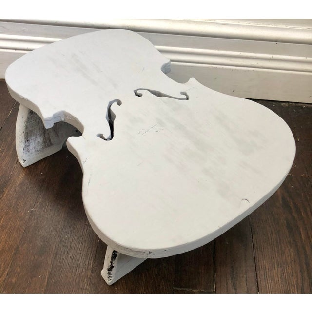 1950s Violin Shaped Wood Step For Sale - Image 5 of 7