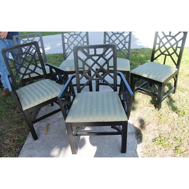 Fretwork Chinese Chippendale Dining Chairs - Set of 6 - Image 2 of 10