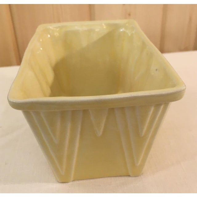 CP Cookson Art Deco Style Yellow Planter - Image 4 of 8