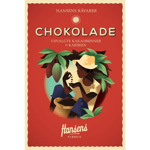 Mads Berg 'Hansen's Chockolade' Danish Poster - Image 2 of 2