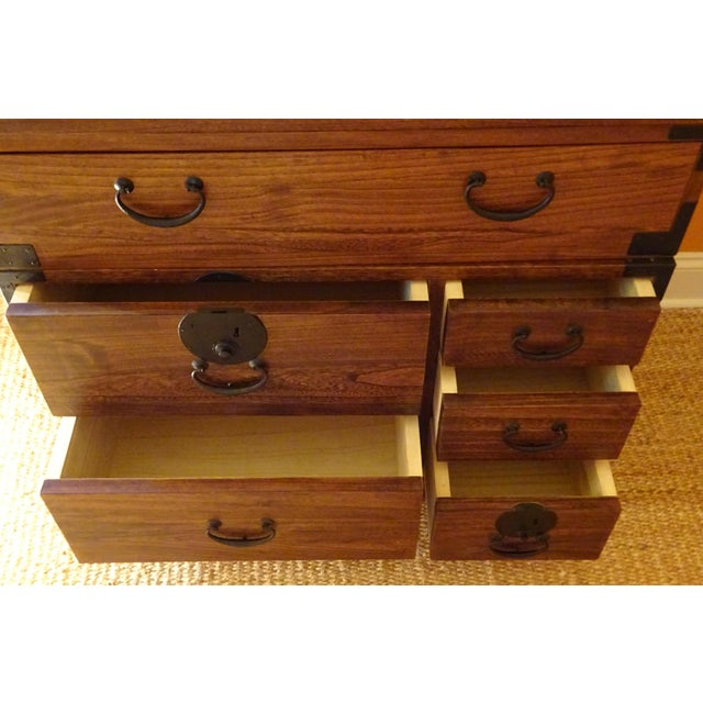 Japanese Style 3 Piece Stacking Tansu Clothing Chest - Image 8 of 11