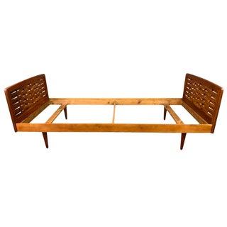 Vintage Mid Century Modern Teak Bedframe For Sale