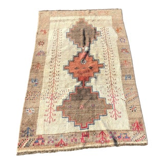 1970s Vintage Persian Gabbeh Rug - 4′9″ × 8′3″ For Sale