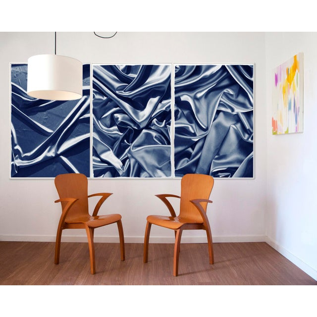 Smooth Fabric Composition Classic Blue Cyanotype Sensual Scene