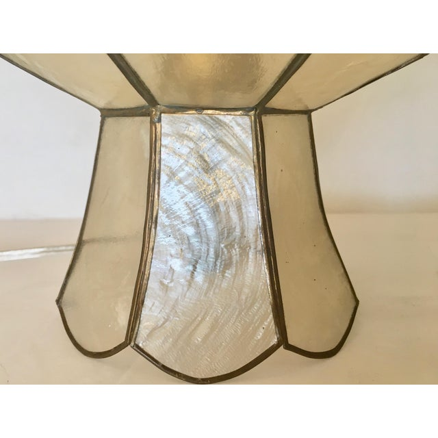 Vintage capiz shell table lamps a pair chairish vintage capiz shell table lamps a pair image 6 of 7 aloadofball Images