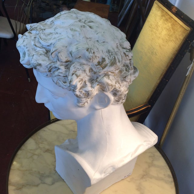 Plaster Bust Of David - Image 3 of 8