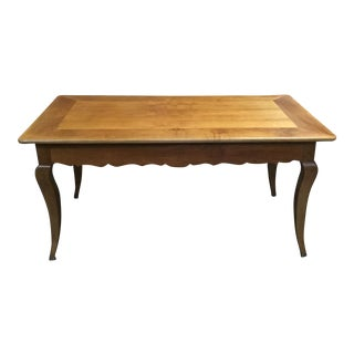 French Louis XV-Style Cherry Farm Table For Sale