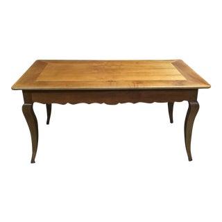 French Louis XV-Style Cherry Farm Table