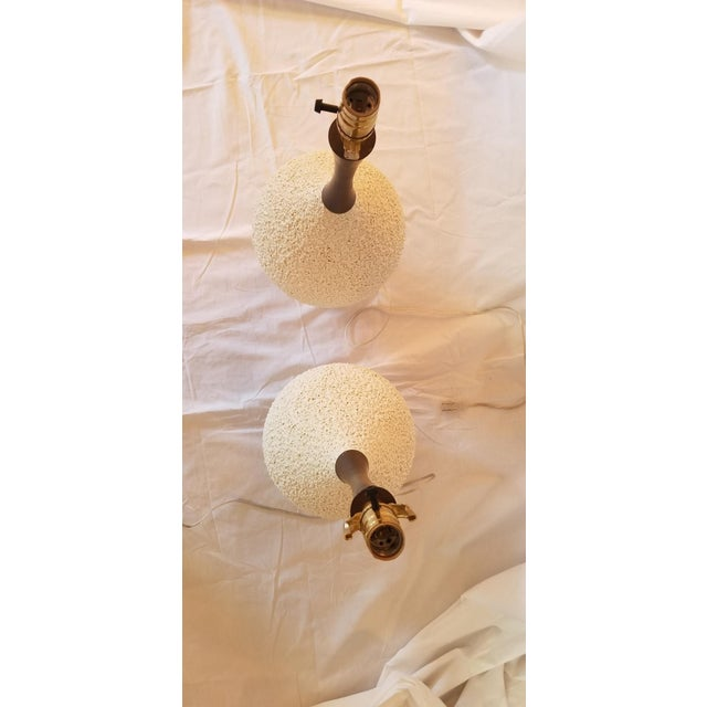 White Vintage Table Lamps - A Pair For Sale - Image 8 of 10