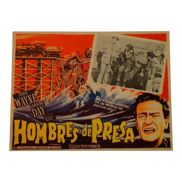 Vintage Movie Poster, John Wayne Tycoon Railroad - Image 1 of 6
