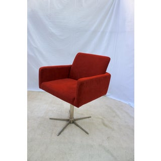Bo Concept Rust Orange Corduroy Swivel Armchair Preview
