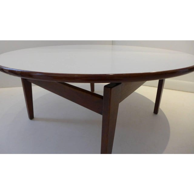Mid-Century Modern Jens Risom Cocktail Table with White Laminate Top For Sale - Image 3 of 6