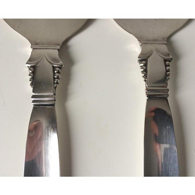 Vintage Art Deco Silver Serving Utensils- A Pair - Image 3 of 5