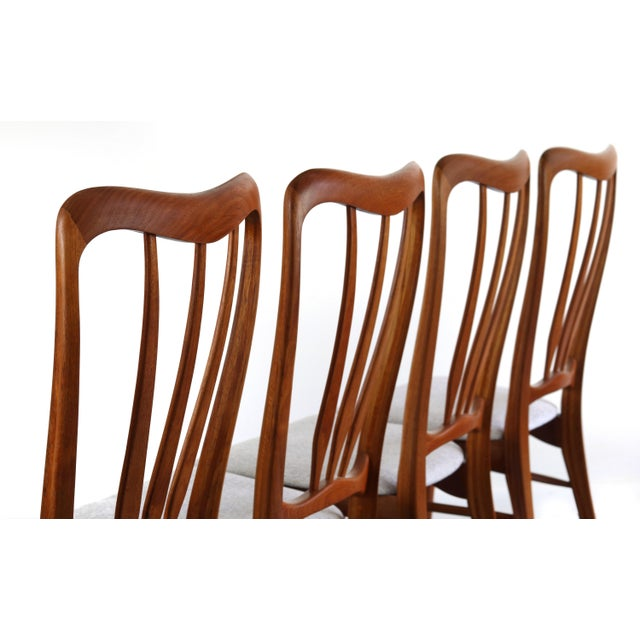 1960s Vintage Koefoeds Hornslet 'Ingrid' Chairs- Set of 4 For Sale - Image 4 of 8