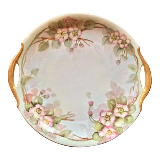 1912 Hand Painted Art Nouveau Bavarian Plate For Sale