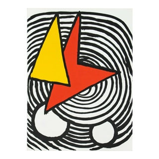 Mid Century Modern Calder Lithograph From Derriere Le Miroir 1963 Unframed For Sale