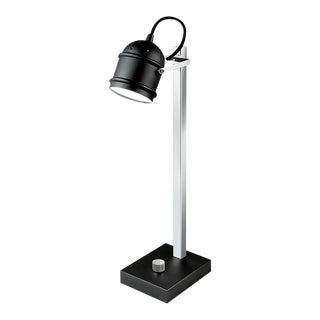 Satin Black With Polished Chrome Manhattan Desk Light For Sale