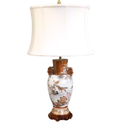 Japanese Satsuma Ware Vase Lamp For Sale - Image 11 of 11