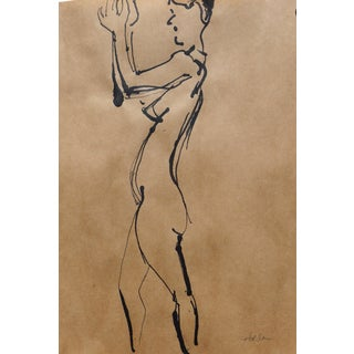 """Clap"" Contemporary French Figurative Drawing by Martha Holden For Sale"