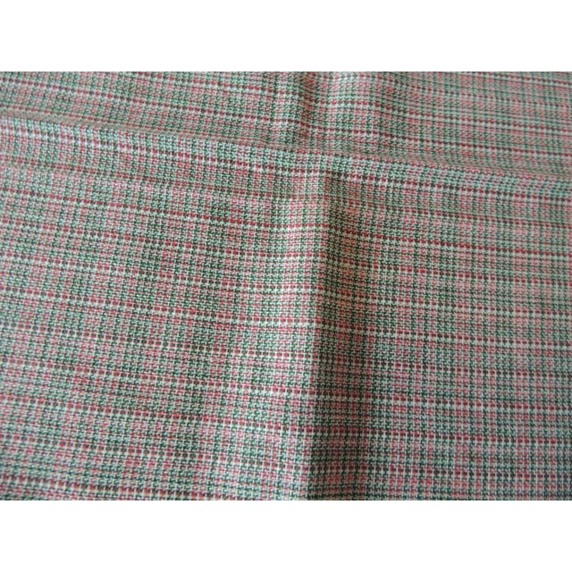 Early 21st Century Vintage Green and Red Woven Bathroom Guest Towel For Sale - Image 5 of 6