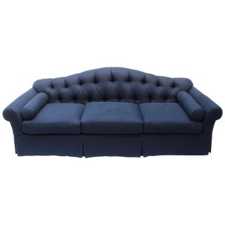 Tufted Camelback Baker Sofa For Sale
