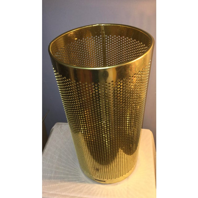 20th Century Italian Brass Wastebasket or Trash Can For Sale - Image 4 of 7