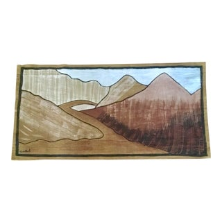 "Vintage Textile Art ""Nomad's Path"" For Sale"