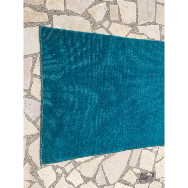Oushak Over-Dyed Turquoise Runner - 2′10 X 14' - Image 7 of 8