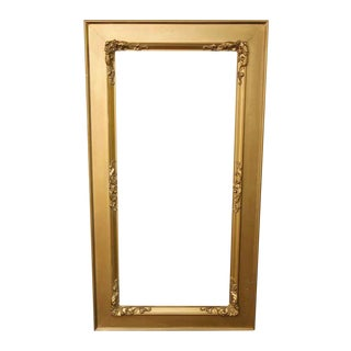 Vintage Gold Painted Mirror Frame For Sale