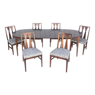 Mid-Century Modern Dining Room Set With Six Dining Chairs For Sale