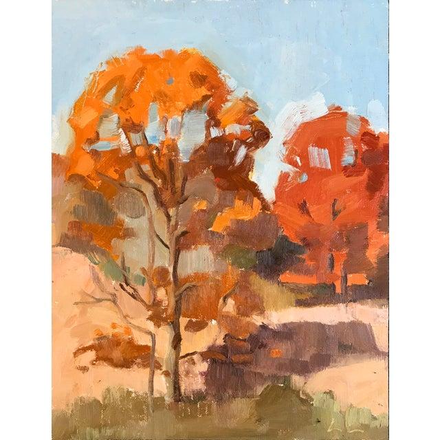 Caitlin Winner Oak Trees in November - Original Oil Painting by Caitlin Winner For Sale - Image 4 of 4