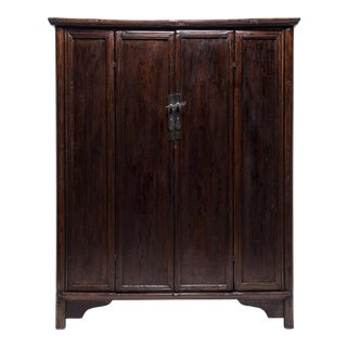 19th Century Chinese Two Door Four Panel Cabinet For Sale