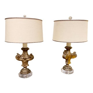 19th Century Antique Fragment Lamps - a Pair For Sale