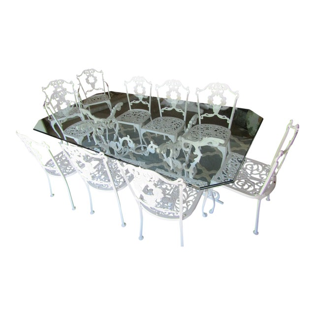 Iron & Glass Patio Set - Set of 11 - Image 1 of 8