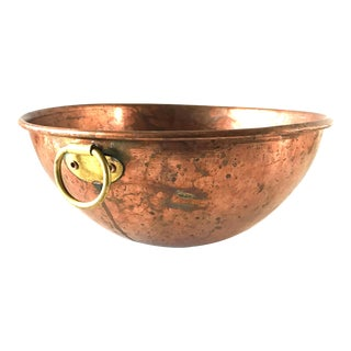 "Mid 20th Century Vintage 11 5/8"" Copper Mixing Bowl For Sale"