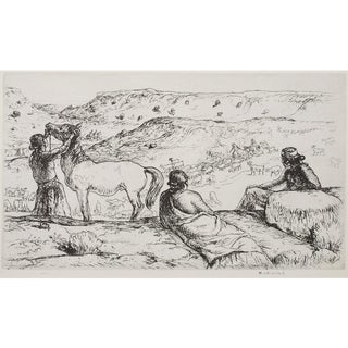 "1939 Mahonri Young ""Three Navajos"", Original Period Etching For Sale"