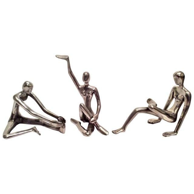 Modernist Polished Steel Sculptures - Set of 3 - Image 1 of 10