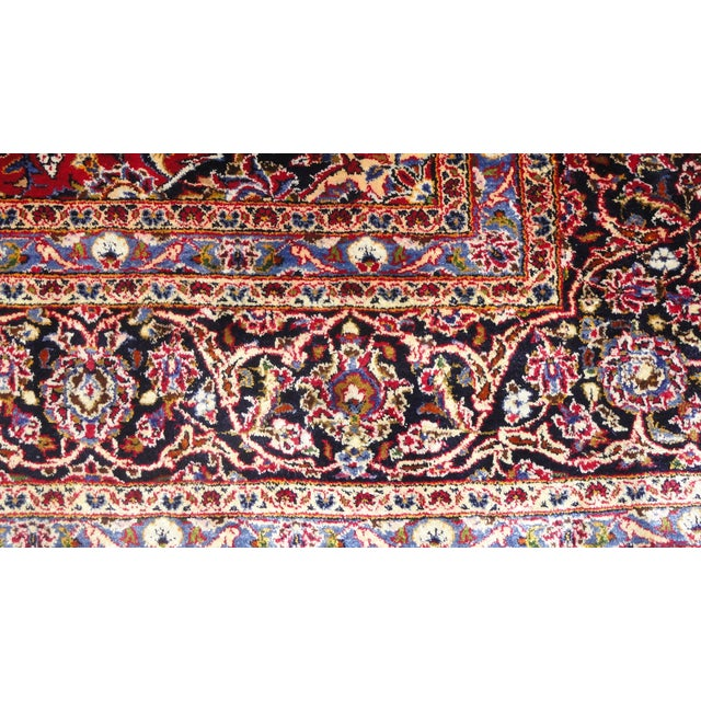 "Persian Silk Kashan Rug - 5' x 7'7"" - Image 4 of 7"