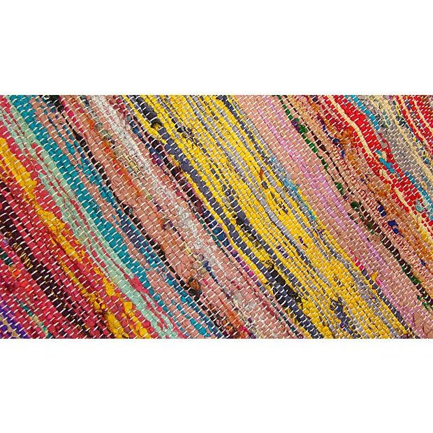 Boucherouite Striped Rug I - 8' X 2' - Image 2 of 3