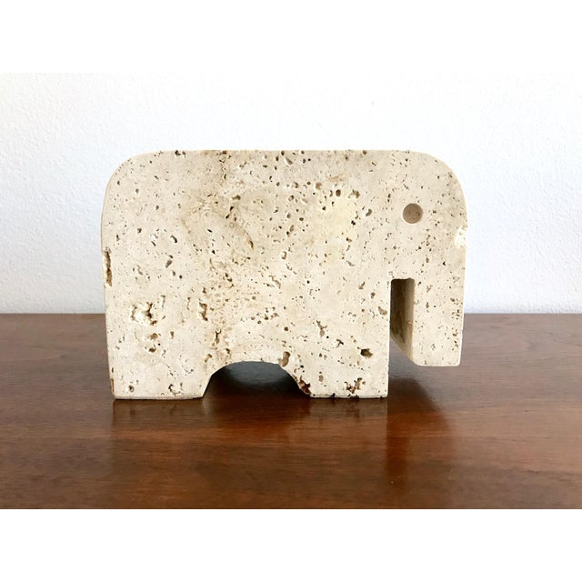 1960s Fratelli Mannelli Travertine Elephant Bookend For Sale - Image 5 of 11