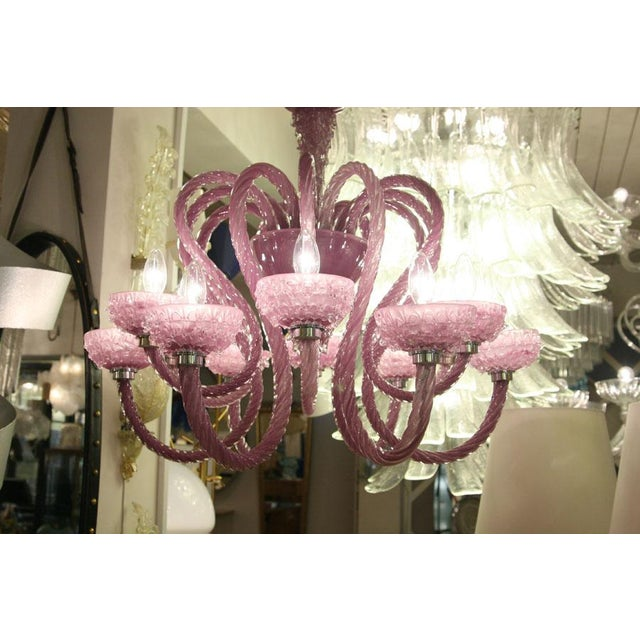 Murano Glass Purple Murano Chandelier For Sale - Image 6 of 7