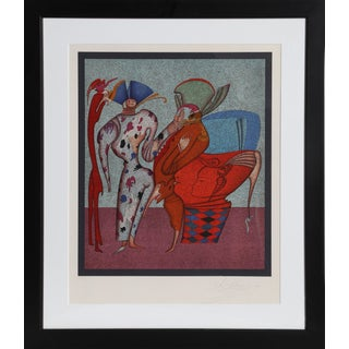 Mihail Chemiakin, Framed Surreal Serigraph For Sale