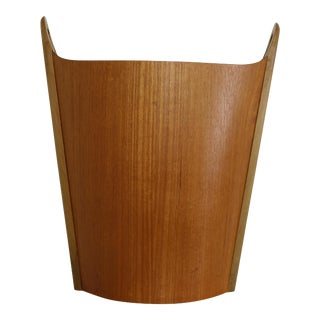 P.S. Heggin Norwegian Teak Waste Basket