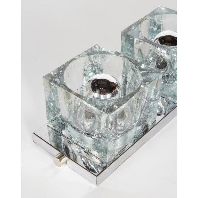 1970s Mid-Century Modern Wall Light with Cubist Design by Gaetano Sciolari For Sale - Image 5 of 11