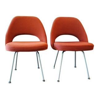 Eero Saarinen for Knoll Executive Armless Side Chairs - A Pair
